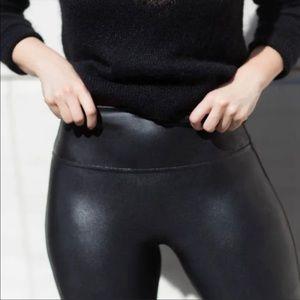 Spanx Faux Leather High Rise Leggings Medium